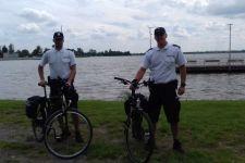 Policjanci na rowerach patrolują ulice Żnina