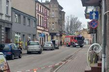 Ulica Kościuszki w Żninie zamknięta! Nieoficjalna przyczyna: wyciek gazu